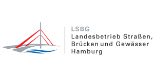 Logo: Landesbetrieb Straßen, Brücken und Gewässer Hamburg