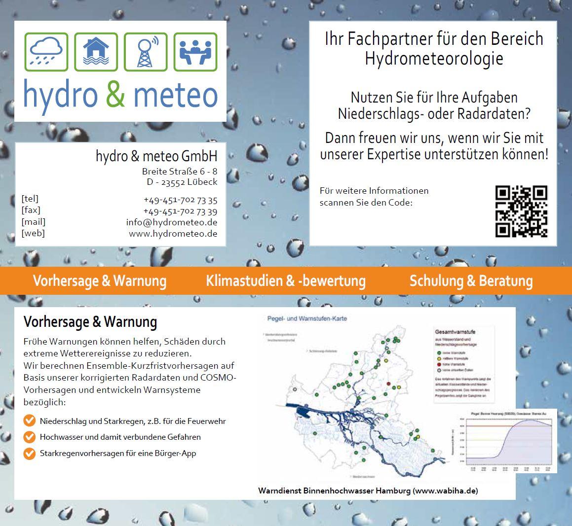 Unternehmensflyer hydro & meteo Screenshot