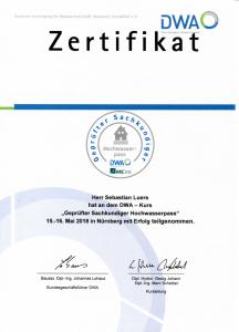 Zertifikat Geprüfter Sachkundiger Hochwasserpass