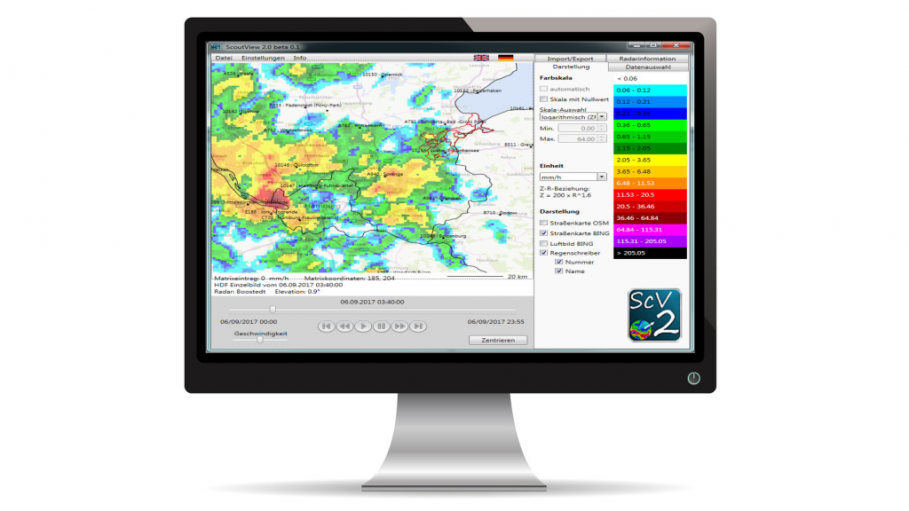 Screen der Software scout view 2